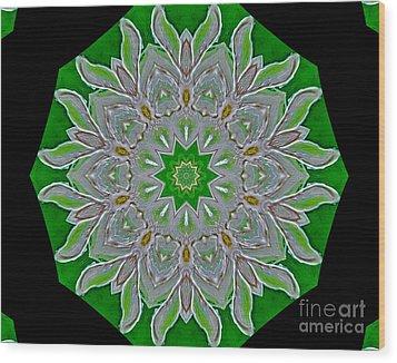 Emerald Green Wood Print by Marsha Heiken