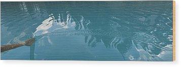 Emerald Lake Glacier Waters Wood Print by Angela A Stanton