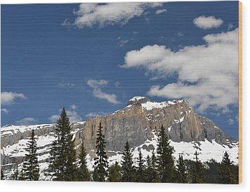 Emerald Lake Mountains Wood Print