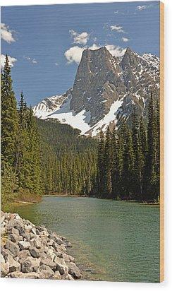 Emerald Lake Vista Wood Print