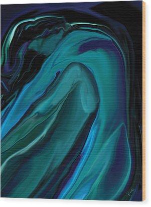 Emerald Love Wood Print by Rabi Khan
