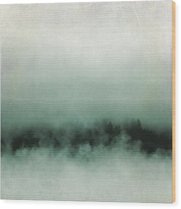 Wood Print featuring the photograph Emerald Mist by Sally Banfill