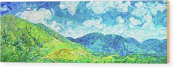 Emerald Moments Wood Print by Mandy Budan
