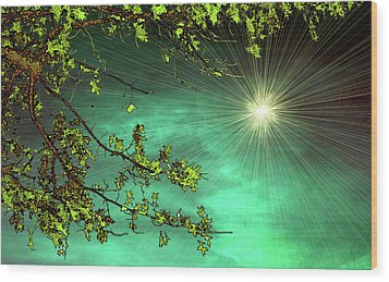 Emerald Sky Wood Print by Tom York Images