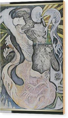 Emergence Wood Print by Michelle Spiziri