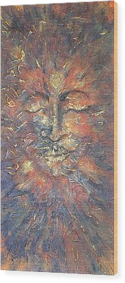 Emerging Buddha Wood Print