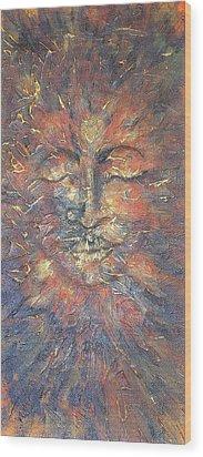 Emerging Buddha Wood Print by Theresa Marie Johnson