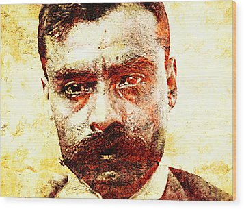 Emiliano Zapata Wood Print by J- J- Espinoza