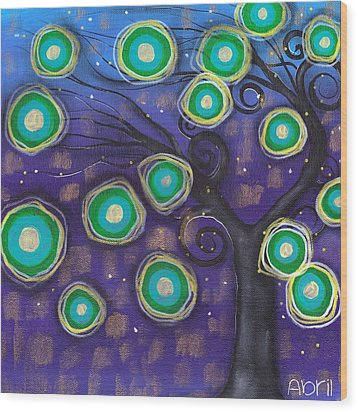Emilio Tree Wood Print by  Abril Andrade Griffith