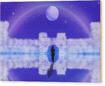 Wood Print featuring the digital art Emily's Journey Part II by Bernd Hau
