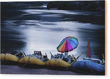 Wood Print featuring the photograph Eminence Camp Umbrella  by Britt Runyon