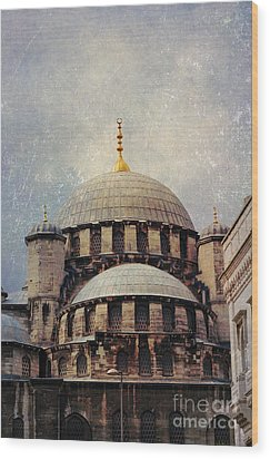Eminonu New Mosque Wood Print