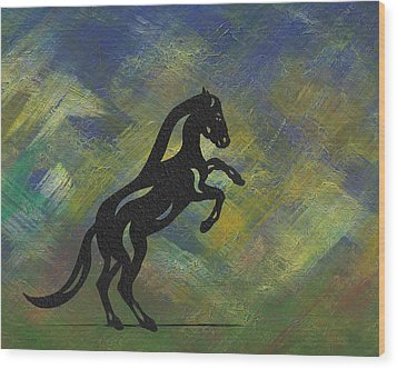Emma II - Abstract Horse Wood Print by Manuel Sueess