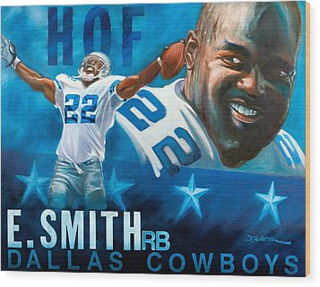 Emmit Smith Hof Wood Print by Jim Wetherington