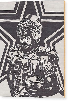 Emmitt Smith Wood Print by Jeremiah Colley