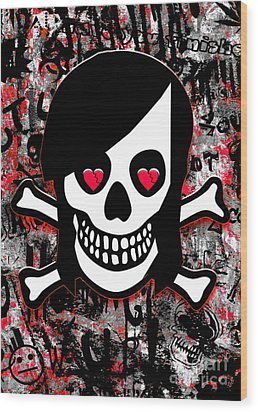 Emo Heart Breaker Wood Print by Roseanne Jones