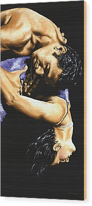 Emotional Tango Wood Print by Richard Young