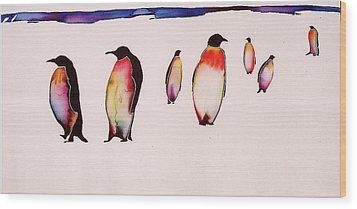 Emperors On Ice Wood Print by Carolyn Doe