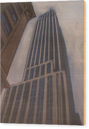 Empire State Building 1 Wood Print by Anita Burgermeister