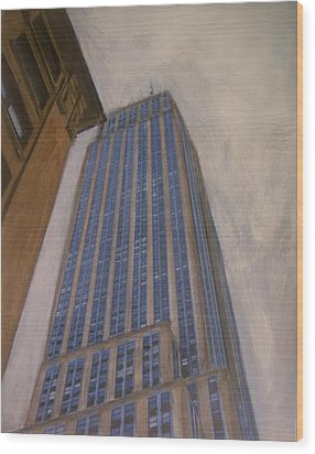 Empire State Building 2 Wood Print by Anita Burgermeister
