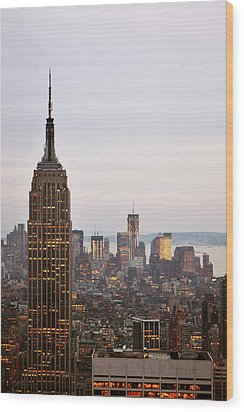 Wood Print featuring the photograph Empire State Building No.2 by Zawhaus Photography