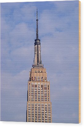 Empire State Building Observatory Wood Print by Margie Avellino