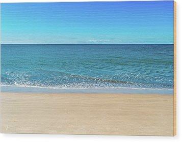 Empty Beach Wood Print