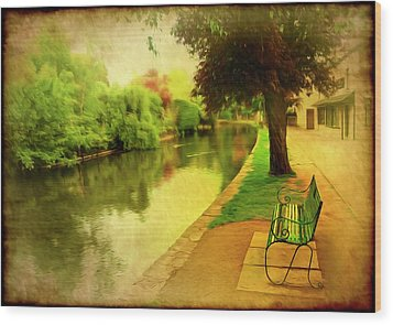 Empty Bench Wood Print by Svetlana Sewell