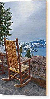 Empty Chair Wood Print by Dorota Nowak
