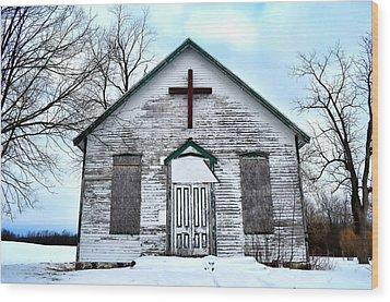 Empty Church Wood Print