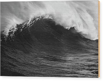 Wood Print featuring the photograph Empty Jaws Black And White by Brad Scott