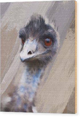 Emu Wood Print by Gillian Dernie