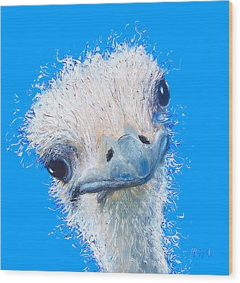 Emu Painting Wood Print