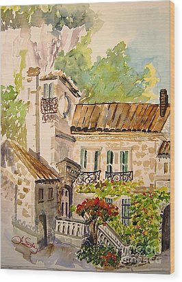 En Plein Air At Moulin De La Roque France Wood Print by Joanne Smoley