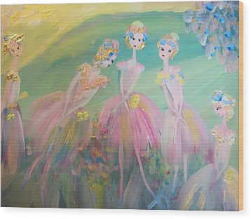 En Plein Air Ballet Wood Print by Judith Desrosiers