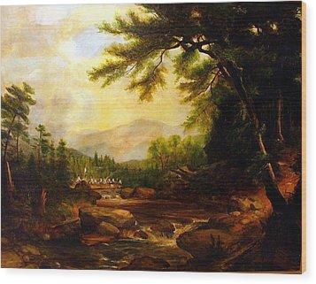 Encampment Wood Print
