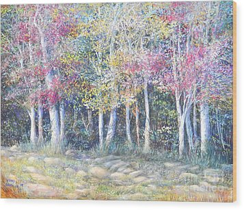 Enchanced Tree Pageant Wood Print by Penny Neimiller