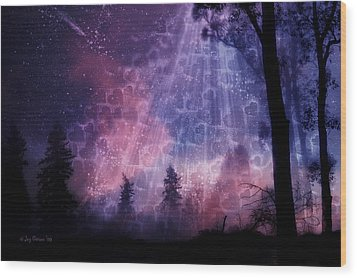 Enchanted By Your Love Wood Print by Joy Gerow