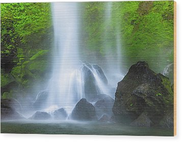 Wood Print featuring the photograph Enchanted Elowah by Mike Lang