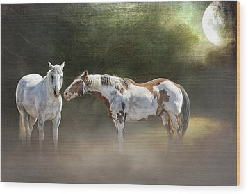 Enchanted Evening Wood Print by Debby Herold