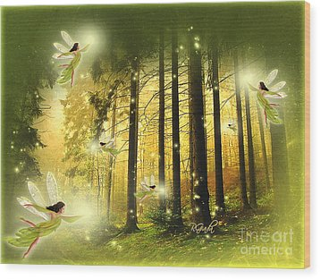 Wood Print featuring the digital art Enchanted Forest - Fantasy Art By Giada Rossi by Giada Rossi