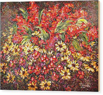 Enchanted Garden Wood Print by Natalie Holland