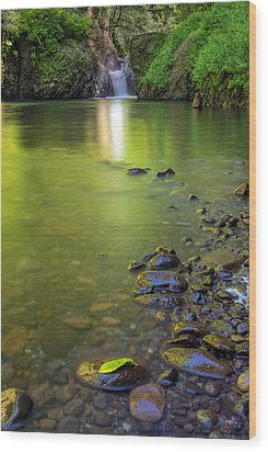 Enchanted Gorge Reflection Wood Print by David Gn