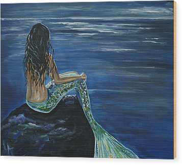 Enchanted Mermaid Wood Print