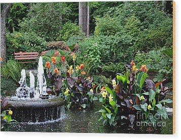 Enchanted Pond  3 Wood Print by Tanya  Searcy