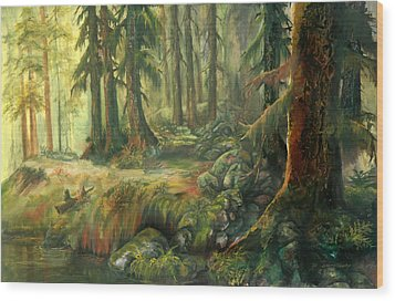 Enchanted Rain Forest Wood Print