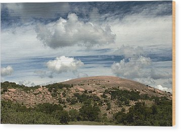 Enchanted Rock Rocks Wood Print by Karen Musick