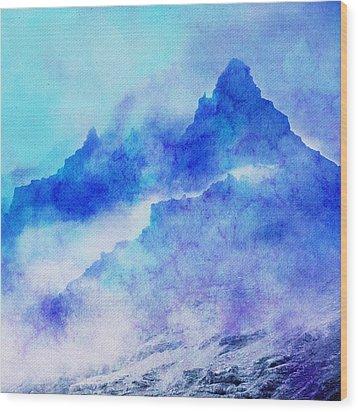 Wood Print featuring the digital art Enchanted Scenery #4 by Klara Acel