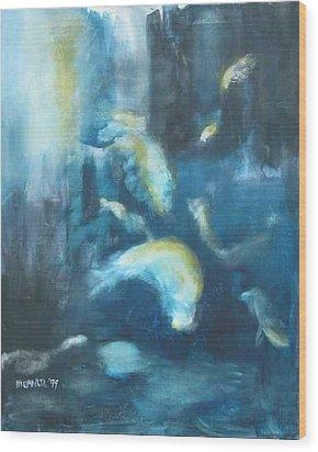 Enchanted Sea Wood Print by Halle Treanor