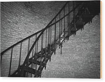 Wood Print featuring the photograph Enchanted Staircase II - Currituck Lighthouse by David Sutton